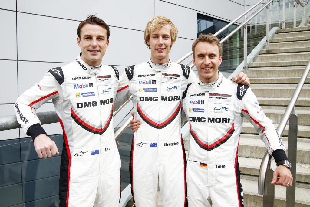 Bamber, Brendon Hartley, Timo Bernhard. Foto: Porsche