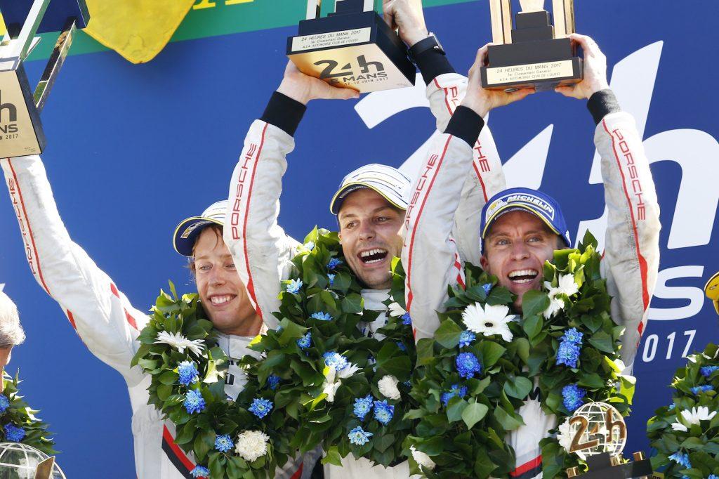 Porsche LMP Team: Brendon Hartley, Earl Bamber, Timo Bernhard (l-r)