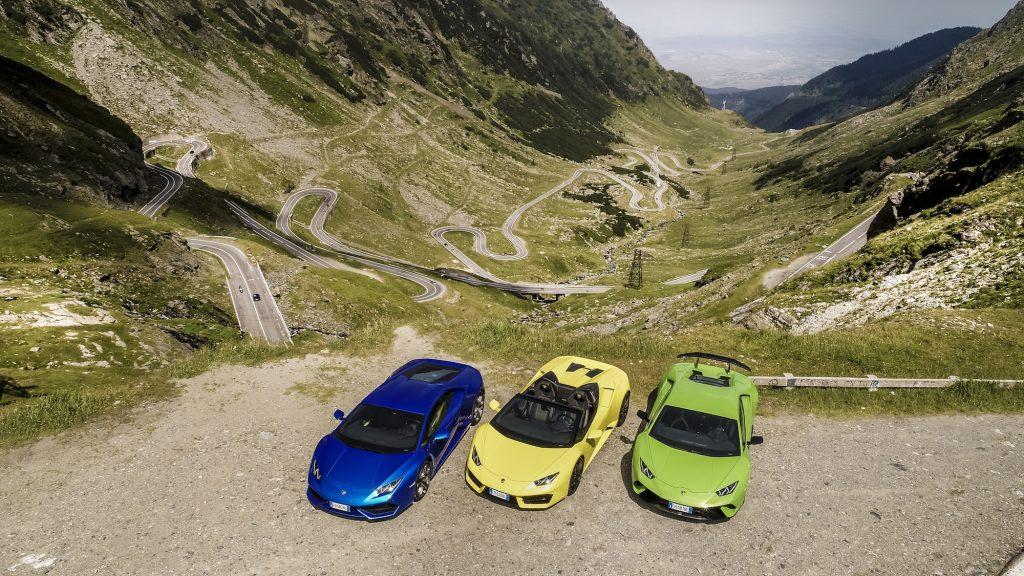 Familia Huracan pe Transfăgărășan. Foto: Lamborghini