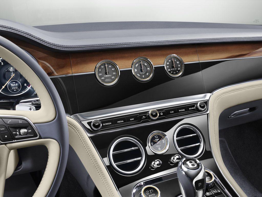 Sistemul rotativ Bentley Rotating Display, cu 3 fețe. Foto: Bentley Motors