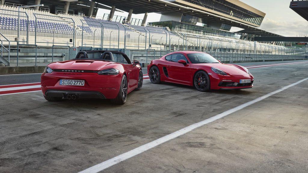 Porsche 718 Boxster GTS și 718 Cayman GTS. Foto: Porsche