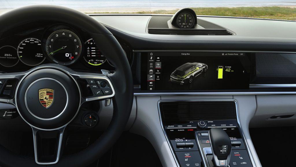 Interior Panamera Turbo S E-Hybrid Sport Turismo. Foto: Porsche