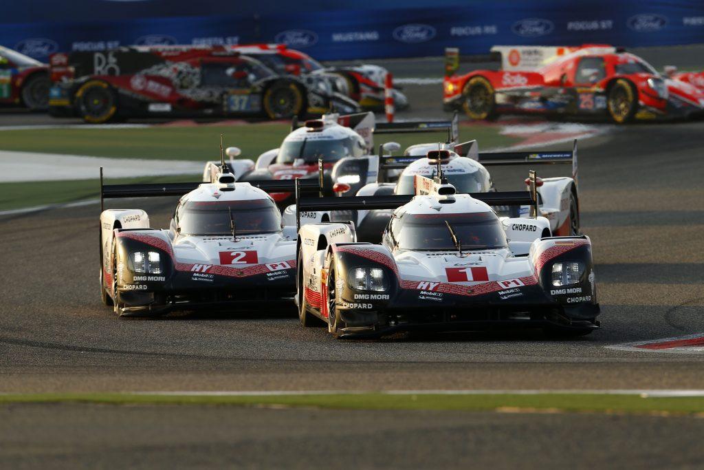 Porsche 919 Hybrid, Porsche LMP Team (1): Neel Jani, Andre Lotterer, Nick Tandy, Porsche LMP Team (2): Earl Bamber, Timo Bernhard, Brendon Hartley. Foto: Porsche
