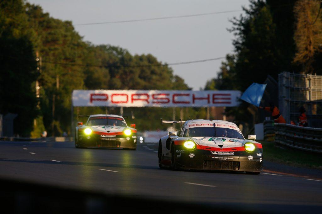 Porsche 911 RSR (92), Porsche GT Team: Michael Christensen, Kevin Estre, Dirk Werner Motorsports: 24 Hours of Le Mans on June, 18, 2017,