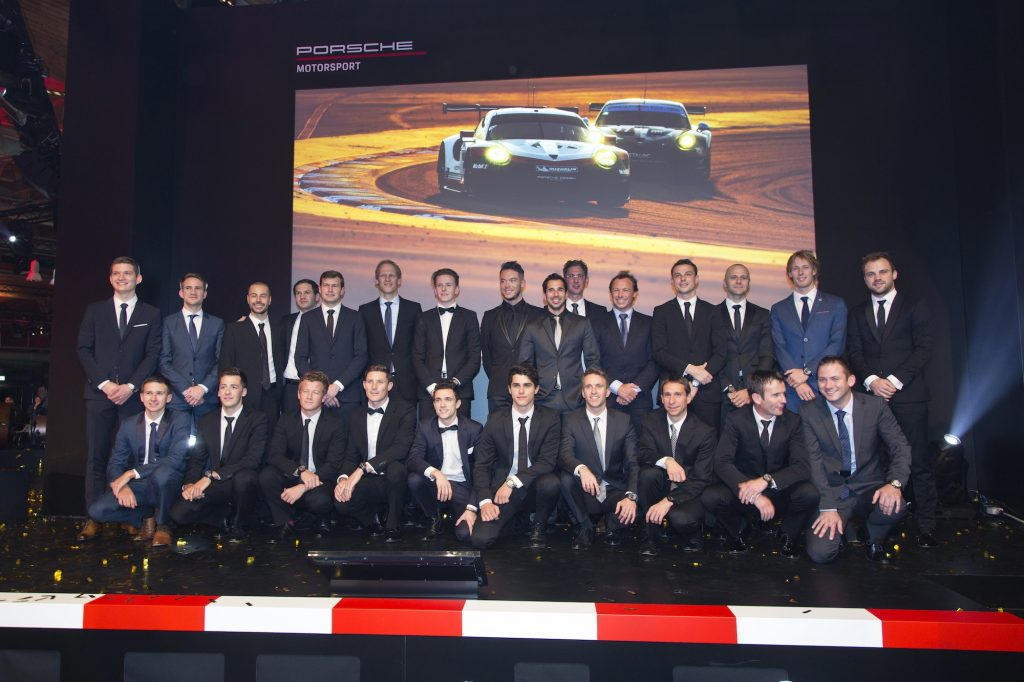 Porsche Night of Champions - pilotii oficiali Porsche in 2018. Foto: Porsche