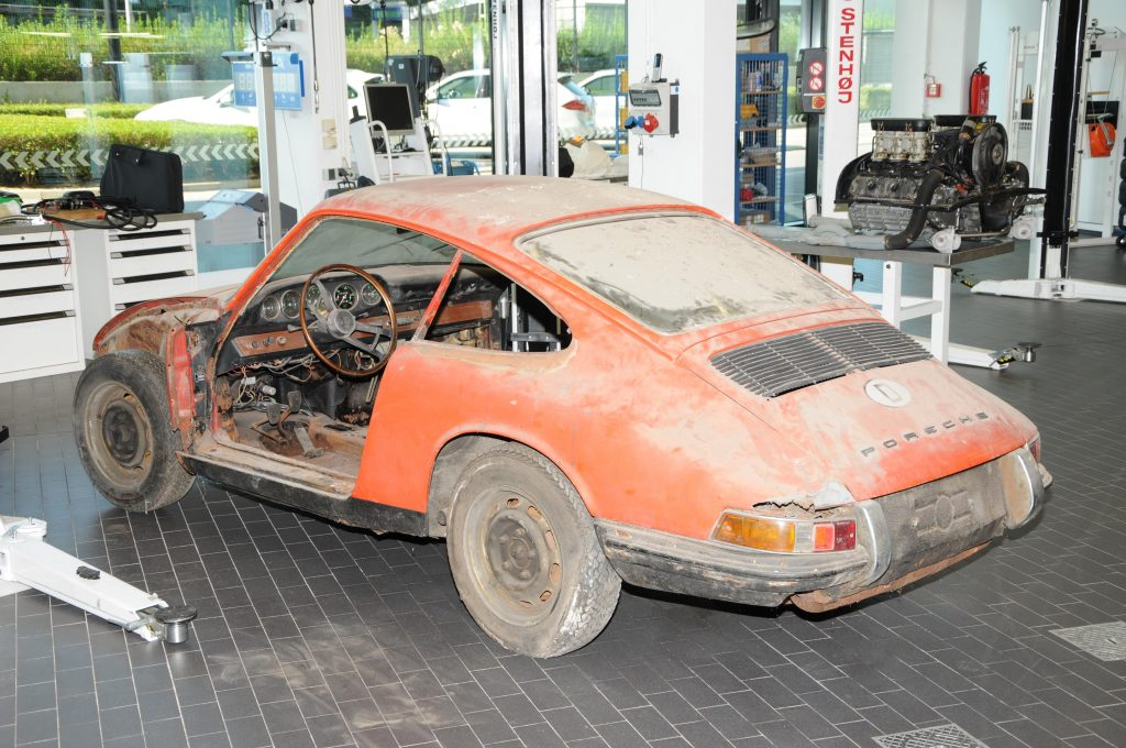911 (901 No. 57) înainte de restaurare. Foto: Porsche