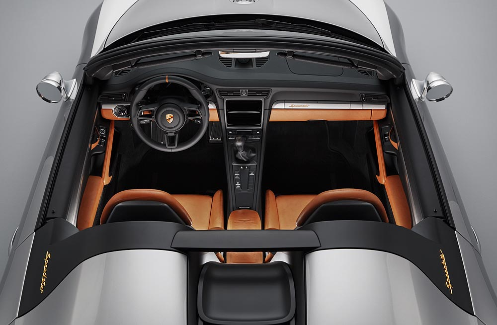 Conceptul Porsche 911 Speedster - interior. Foto: Porsche
