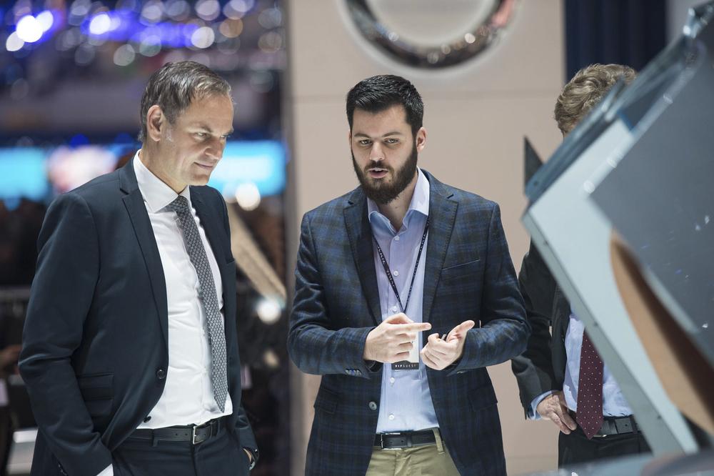 Oliver Blume, Președintele Consiliului Executiv al Porsche AG și Mate Rimac, Fondator și CEO, Rimac Automobili. Foto: Porsche