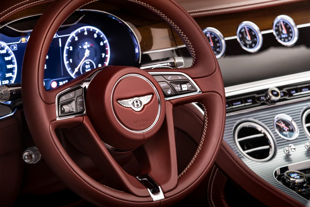 Interior Bentley Continental GT Convertible. Foto: bentleymedia.com