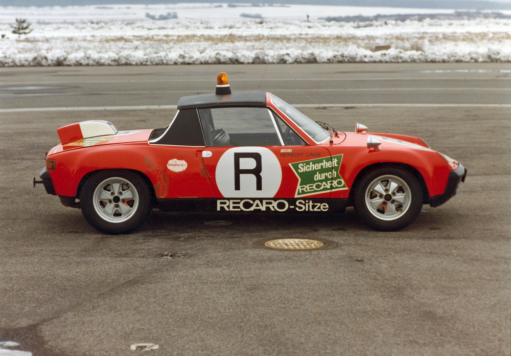 The Porsche 914/6 GT model year 1972, the ONS track safety vehicle in 1973. Foto: Porsche