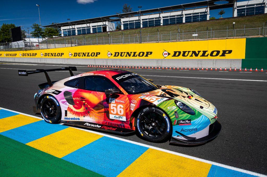 """Porsche 911 RSR, personalizat cu """"Second Skin"""" la cursa de 24 ore de la Le Mans Foto: Porsche"""