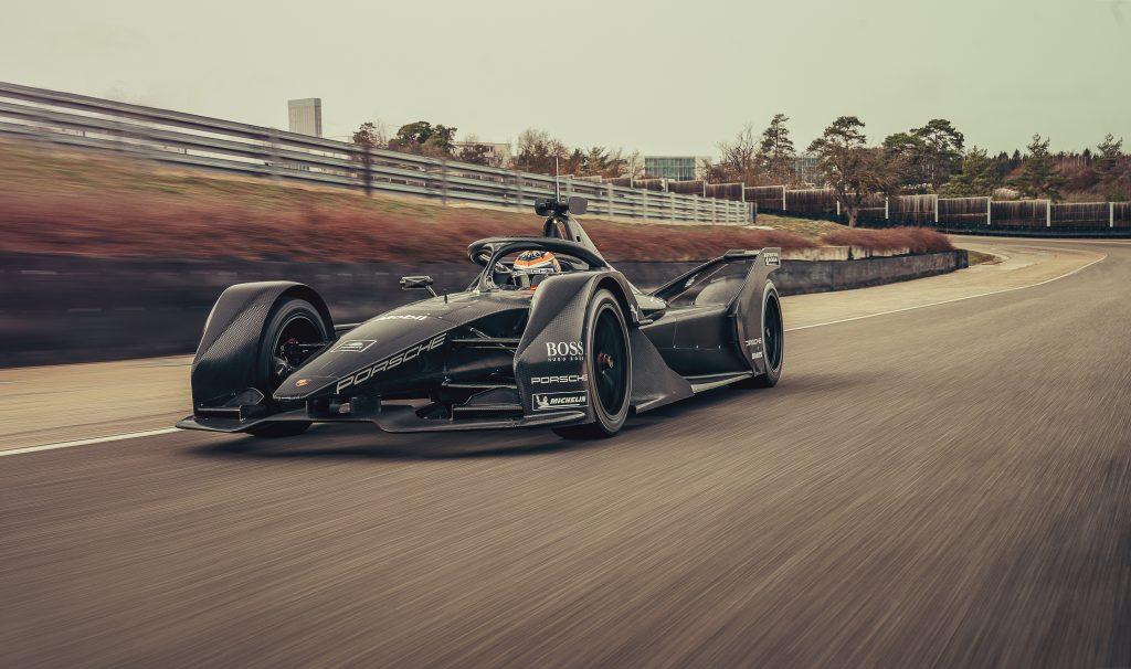Porsche, Formula E, car, Neel Jani, rollout, Weissach, 2019 Photo: Porsche
