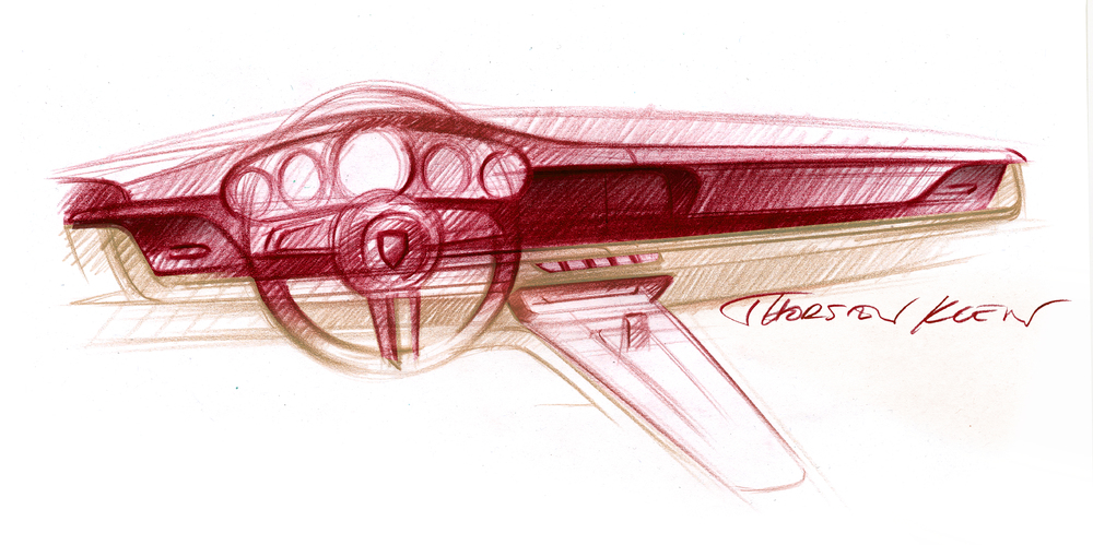 Look into the future: Design sketch of the first special model Photo: Porsche