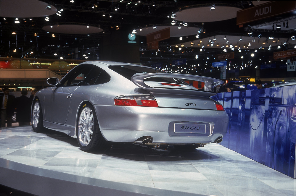 The first Porsche 911 GT3 making its debut at the Automobil Salon in Geneva in 1999 Photo: Porsche